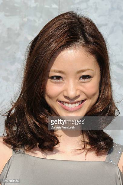 Aya Ueto attends the Emporio Armani Autumn/Winter 2012/2013 fashion show as part of Milan Womenswear Fashion Week on February 25 2012 in Milan Italy