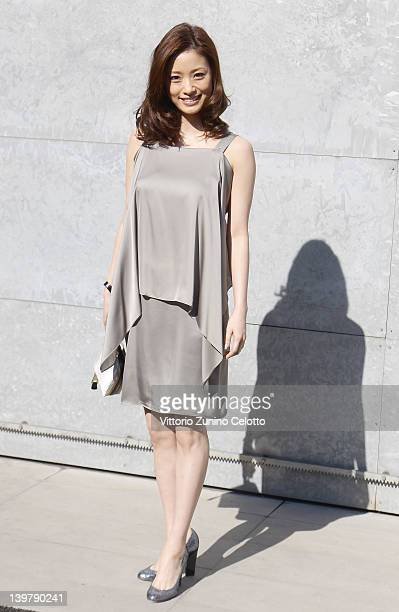 Aya Ueto attends the runway at the Emporio Armani Autumn/Winter 2012/2013 fashion show as part of Milan Womenswear Fashion Week on February 25 2012...