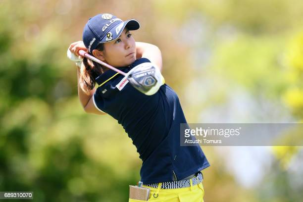 Ayaka Matsumori of Japan hits her tee shot on the 7th hole during the final round of the Resorttrust Ladies at the Oakmont Golf Club on May 28 2017...