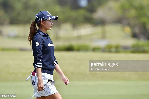 Ayaka Matsumori of Japan looks on during the first round of the Daikin Orchid Ladies Golf Tournament at the Ryukyu Golf Club on March 3 2016 in Nanjo...