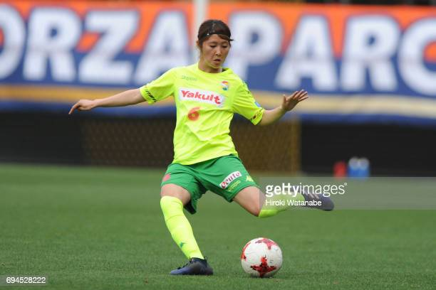Ayaka Nishikawa of JEF United Chiba Ladies in action during the Nadeshiko League Cup Group A match between JEF United Chiba Ladies and AC Nagano...