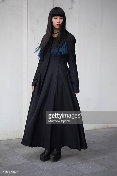 Ayaka Nishikido attends the Hanae Mori Manuscrit show during Tokyo Fashion WeekÊon March 15 2016 in Tokyo JapanÊ