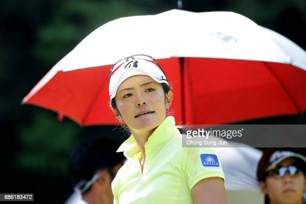 Ayaka Watanabe of Japan on the 5th hole during the final round of the Chukyo Television Bridgestone Ladies Open at the Chukyo Golf Club Ishino Course...