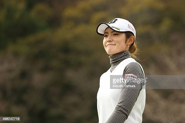 Ayaka Watanabe of Japan smiles during the final round of the Daio Paper Elleair Ladies Open 2015 at the Itsuurateien Country Club on November 22 2015...