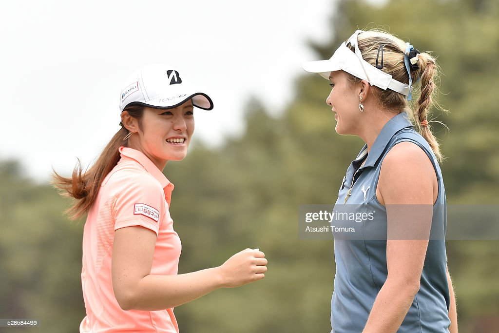 <a gi-track='captionPersonalityLinkClicked' href=/galleries/search?phrase=Ayaka+Watanabe&family=editorial&specificpeople=12647523 ng-click='$event.stopPropagation()'>Ayaka Watanabe</a> of Japan smiles during the second round of the World Ladies Championship Salonpas Cup at the Ibaraki Golf Club on May 6, 2016 in Tsukubamirai, Japan.