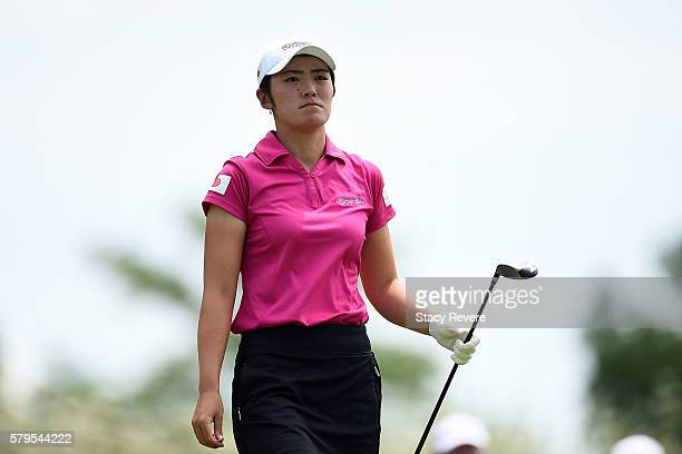 Ayaka Watanabe of Japan walk down the fourth fairway during the singles matches of the 2016 UL International Crown at the Merit Club on July 24 2016...