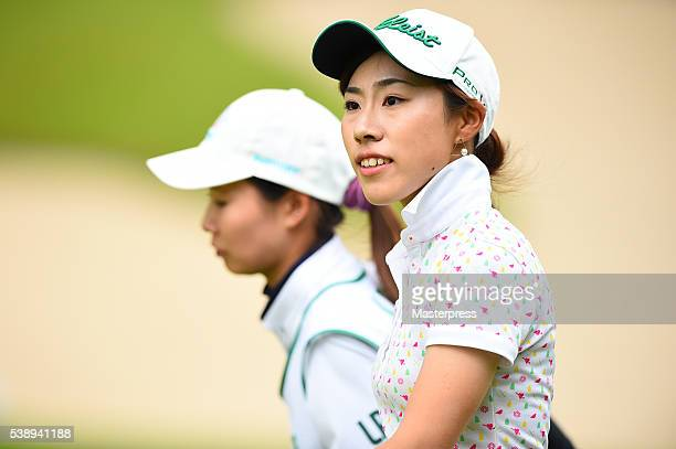 Ayako Kimura of Japan looks on during the first round of the Suntory Ladies Open at the Rokko Kokusai Golf Club on June 9 2016 in Kobe Japan