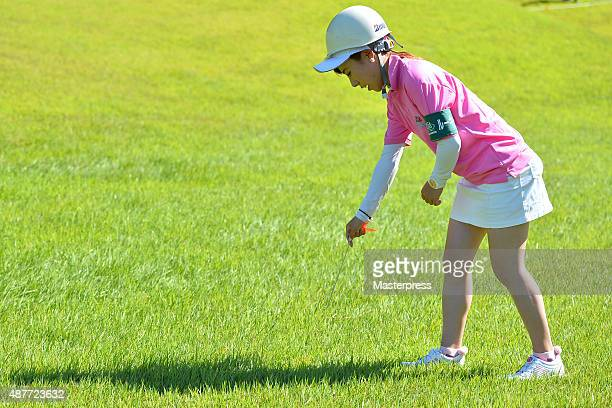 Ayako Kimura of Japan marshal during the rookie camp on the day two of the 48th LPGA Championship Konica Minolta Cup 2015 at the Passage Kinkai...