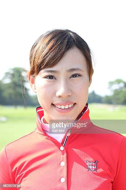 Ayako Kimura of Japan poses during a Portrait Session at the LPGA Pro Test QT at the Kodama Golf Club on July 31 2015 in Honjo Japan