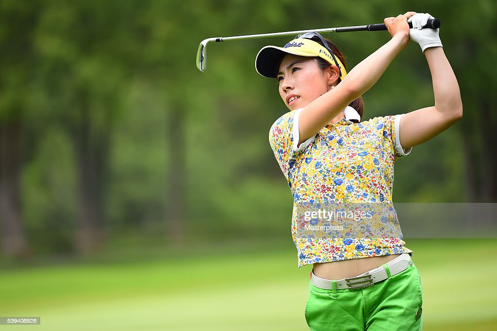 Ayako Kimura of Japan shots during the third round of the Suntory Ladies Open at the Rokko Kokusai Golf Club on June 11, 2016 in Kobe, Japan.
