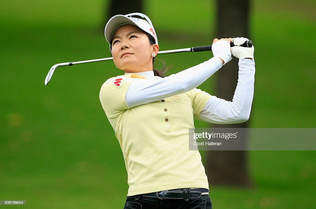 <a gi-track='captionPersonalityLinkClicked' href=/galleries/search?phrase=Ayako+Uehara+-+Golf&family=editorial&specificpeople=4690711 ng-click='$event.stopPropagation()'>Ayako Uehara</a> of Japan hits her approach shot on the second hole during the second round of the Volunteers of America Texas Shootout at Las Colinas Country Club on April 29, 2016 in Irving, Texas.