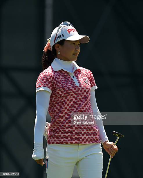 Ayako Uehara of Japan looks on from the third hole during the third round of the US Women's Open at Lancaster Country Club on July 11 2015 in...