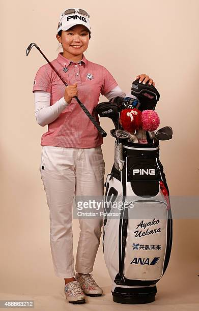 Ayako Uehara of Japan poses for a portrait ahead of the LPGA Founders Cup at Wildfire Golf Club on March 18 2015 in Phoenix Arizona