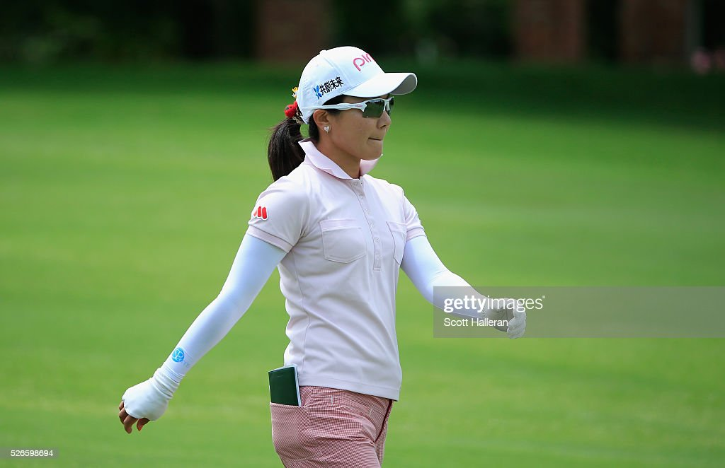 <a gi-track='captionPersonalityLinkClicked' href=/galleries/search?phrase=Ayako+Uehara+-+Golfer&family=editorial&specificpeople=4690711 ng-click='$event.stopPropagation()'>Ayako Uehara</a> of Japan walks on the seventh hole during the third round of the Volunteers of America Texas Shootout at Las Colinas Country Club on April 30, 2016 in Irving, Texas.