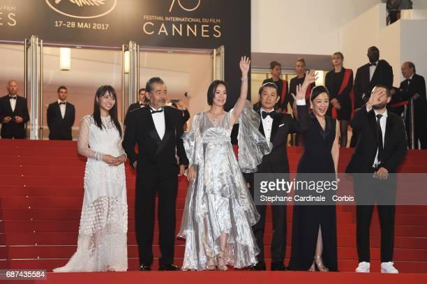 Ayame Misaki Tatsuya Fuji director Naomi Kawase Asatoshi Nagase Misuzu Kanno and Ibrahim Maalouf attend the 'Hikari ' screening during the 70th...