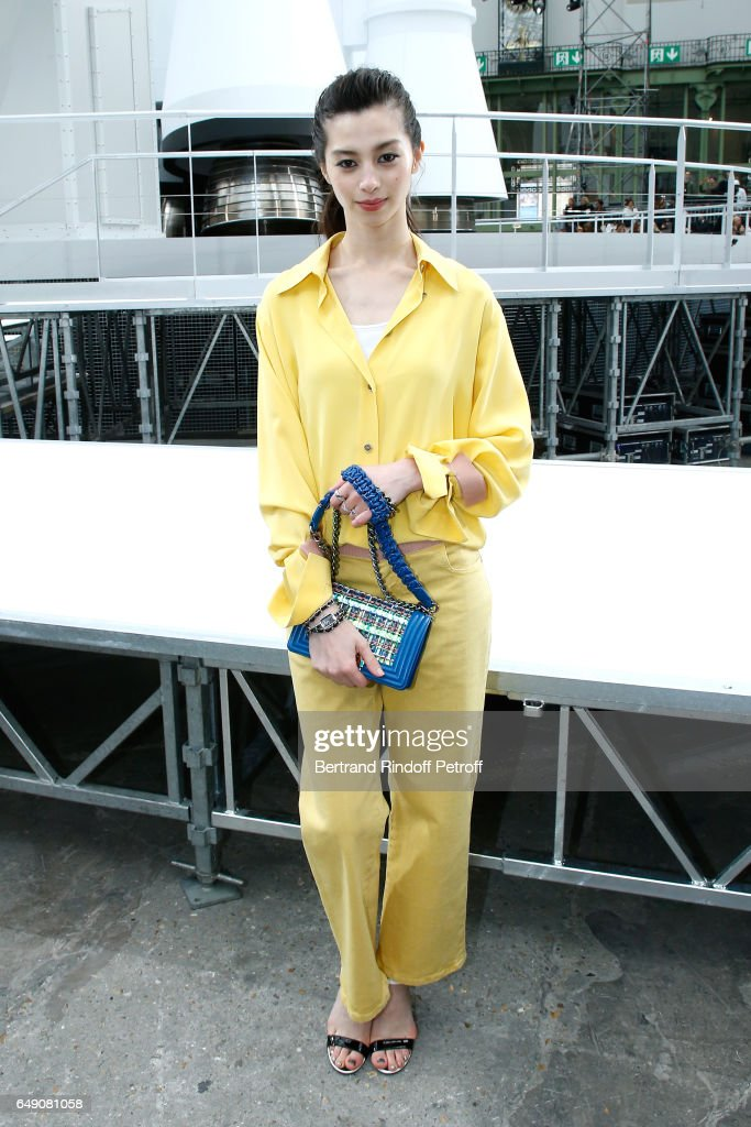 Ayami Nakajo attends the Chanel show as part of the Paris Fashion Week Womenswear Fall/Winter 2017/2018 on March 7, 2017 in Paris, France.