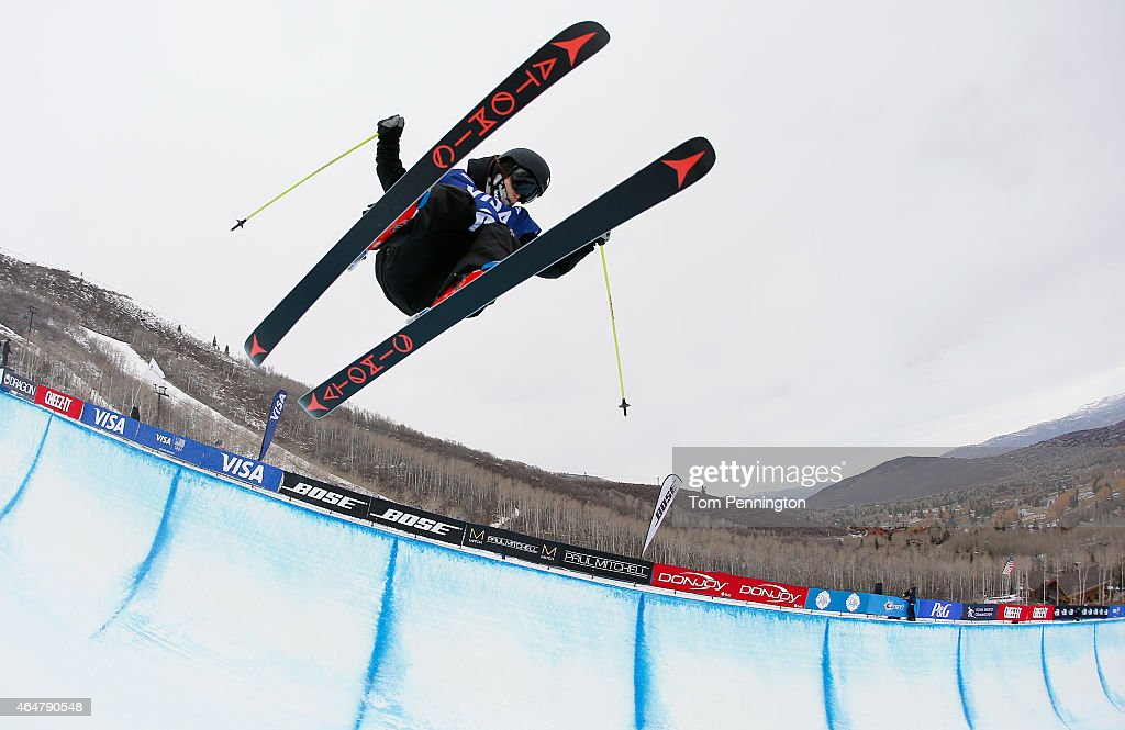 <a gi-track='captionPersonalityLinkClicked' href=/galleries/search?phrase=Ayana+Onozuka&family=editorial&specificpeople=9028067 ng-click='$event.stopPropagation()'>Ayana Onozuka</a> of Japan competes during the FIS Freeskiing World Cup 2015 Ladies' Men's Freeskiing Halfpipe Final during the U.S. Grand Prix at Park City Mountain on February 28, 2015 in Park City, Utah.
