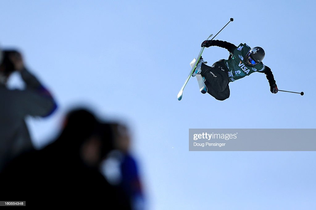 Ayana Onozuka of Japan flies above the pipe as she finished second in the FIS Freestyle Ski Halfpipe World Cup during the Sprint U.S. Grand Prix at Park City Mountain on February 2, 2013 in Park City, Utah.
