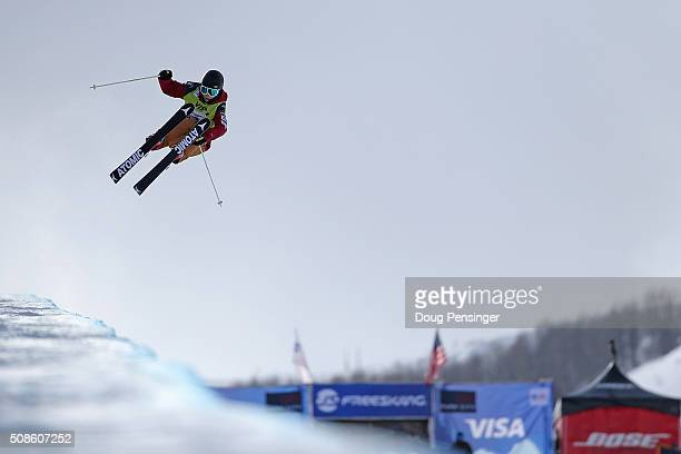 Ayana Onozuka of Japan skis to second place in the ladies' FIS Freestyle Ski Halfpipe World Cup at the 2016 Visa US Freeskiing Park City Grand Prix...