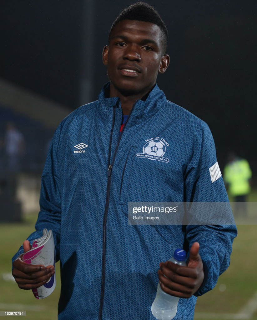 Ayanda Nkosi of Maritzburg Utd during the Absa Premiership match between Maritzburg United and MP Black Aces at Harry Gwala Stadium on September 18, 2013 in Durban, South Africa.