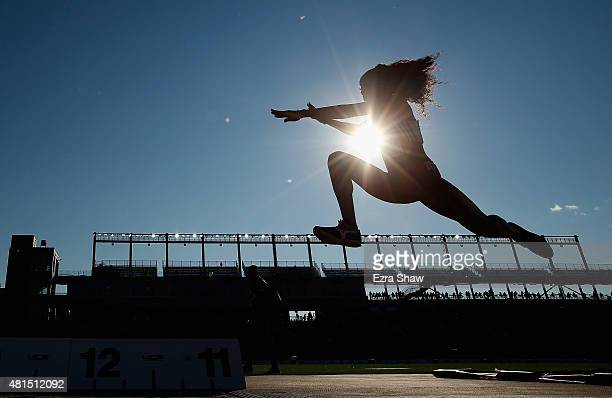 Ayanna Alexander of Trinidad and Tobago competes in the women's triple jump final during Day 11 of the Toronto 2015 Pan Am Games on July 21 2015 in...
