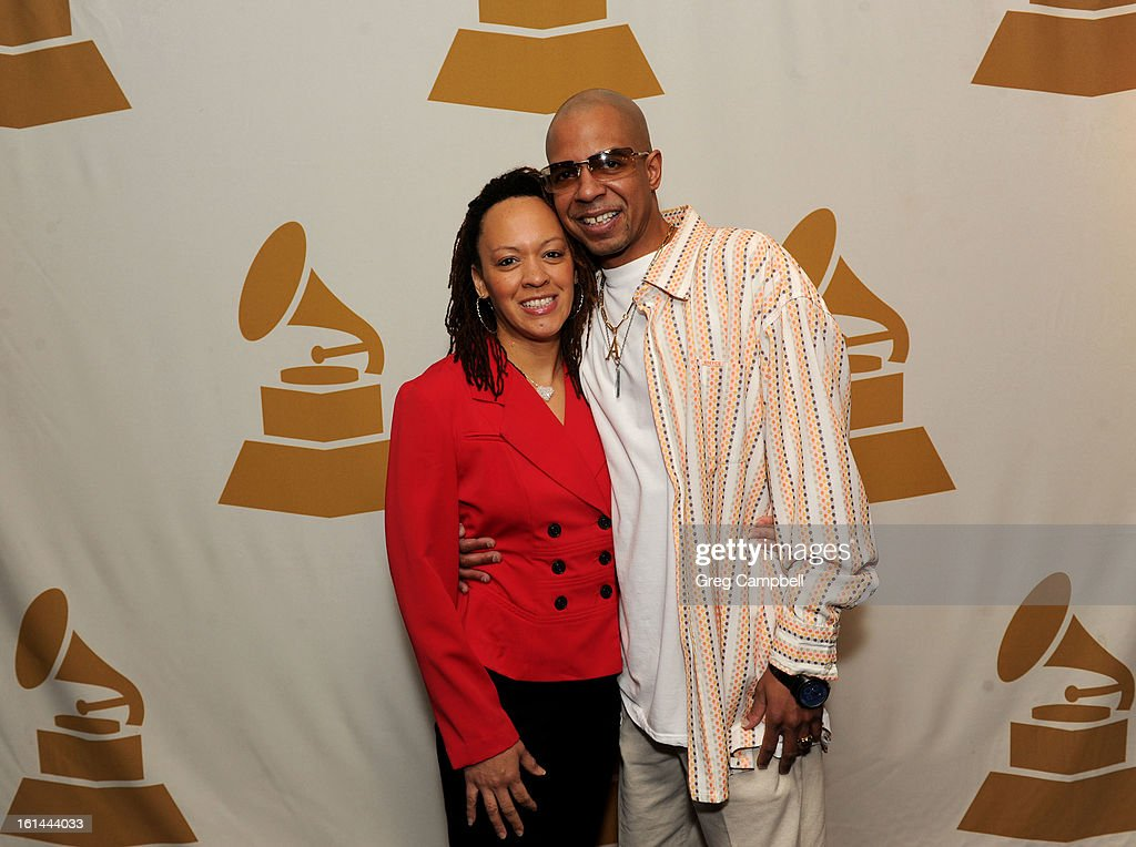 Ayanna Mitchell and Archie Mitchell attend the 55th Annual GRAMMY Awards Telecast Party at Hard Rock Cafe on February 10, 2013 in Chicago, Illinois.