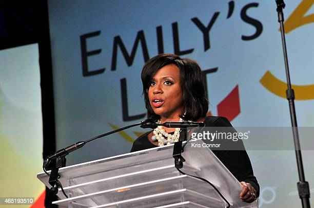 Ayanna Pressley speaks at EMILY's List 30th Anniversary Gala at Washington Hilton on March 3 2015 in Washington DC