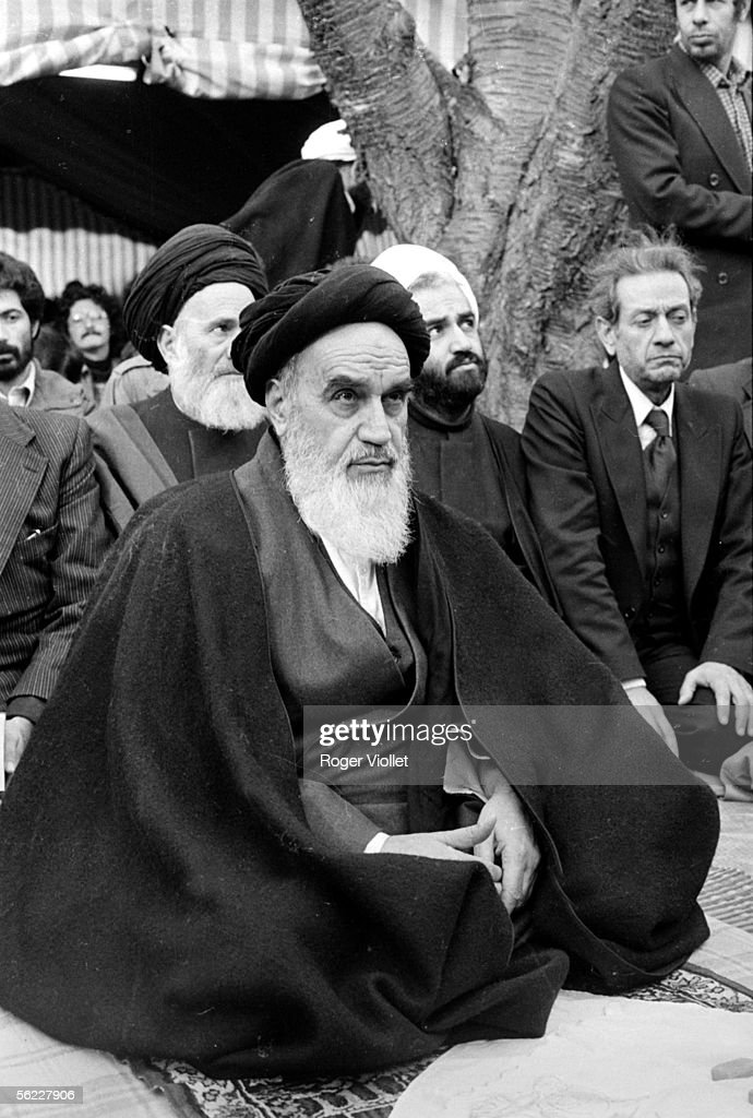 Ayatollah Khomeyni (1902-1989), Iranian spiritual chief, in exile in Neauphle-le-Chateau (Yvelines). January 3, 1979.