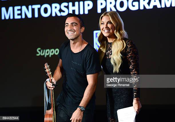 Ayaz Virani 2016 Canada's Walk of Fame Emerging Artist Music Mentorship Prize Winner and Cheryl Hickey Host Entertainment Tonight Canada attend the...