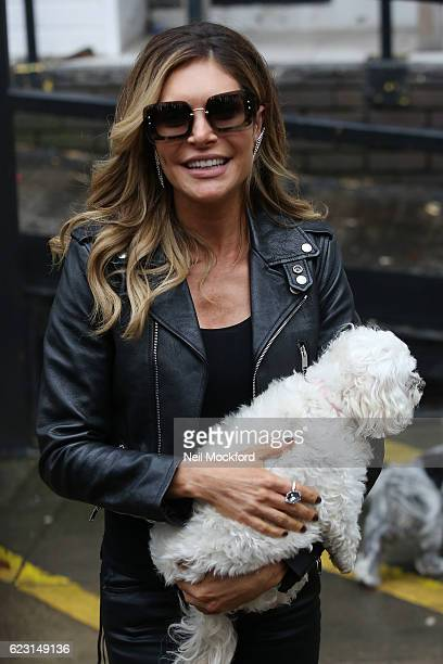 Ayda Field seen leaving the ITV Studios after appearing on Loose Women on November 14 2016 in London England