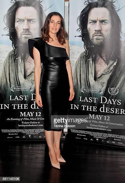 Ayelet Zurer attends the screening of Broad Green Pictures 'Last Days In The Desert' at Laemmle Royal Theatre on May 12 2016 in Santa Monica...