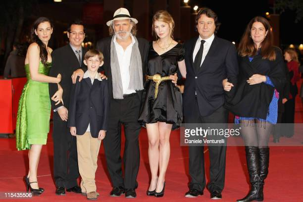 Ayelet Zurer Jeremy Podeswa director Robbie Kay Rade Serbedzija Rosamund Pike and guests attend the 'Fugitive Pieces' premiere during Day 3 of the...