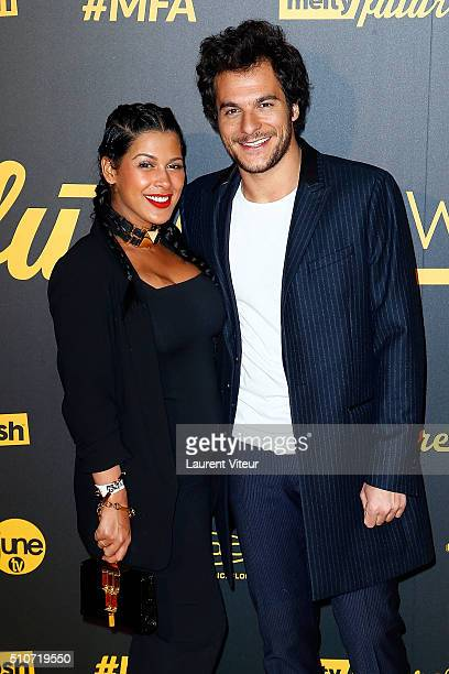 Ayem Nour and Singer Amir attend The Melty Future Awards 2016 Ceremony at Le Grand Rex on February 16 2016 in Paris France