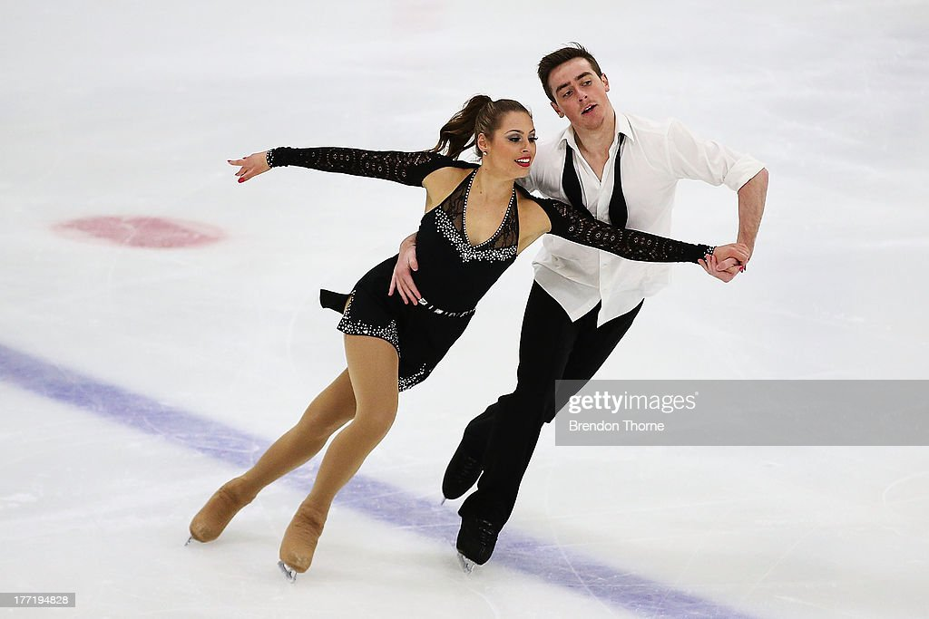 Ayesha Campbell and Shane Speden of New Zealand compete in the Senior Free Dance during Skate Down Under at Canterbury Olympic Ice Rink on August 22, 2013 in Sydney, Australia.