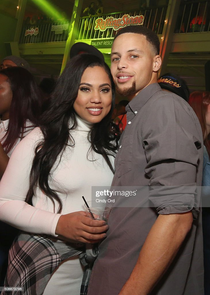 Ayesha Curry (L) and NBA player Stephen Curry attend Rolling Stone Live SF with Talent Resources on February 7, 2016 in San Francisco, California.
