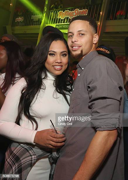Ayesha Curry and NBA player Stephen Curry attend Rolling Stone Live SF with Talent Resources on February 7 2016 in San Francisco California