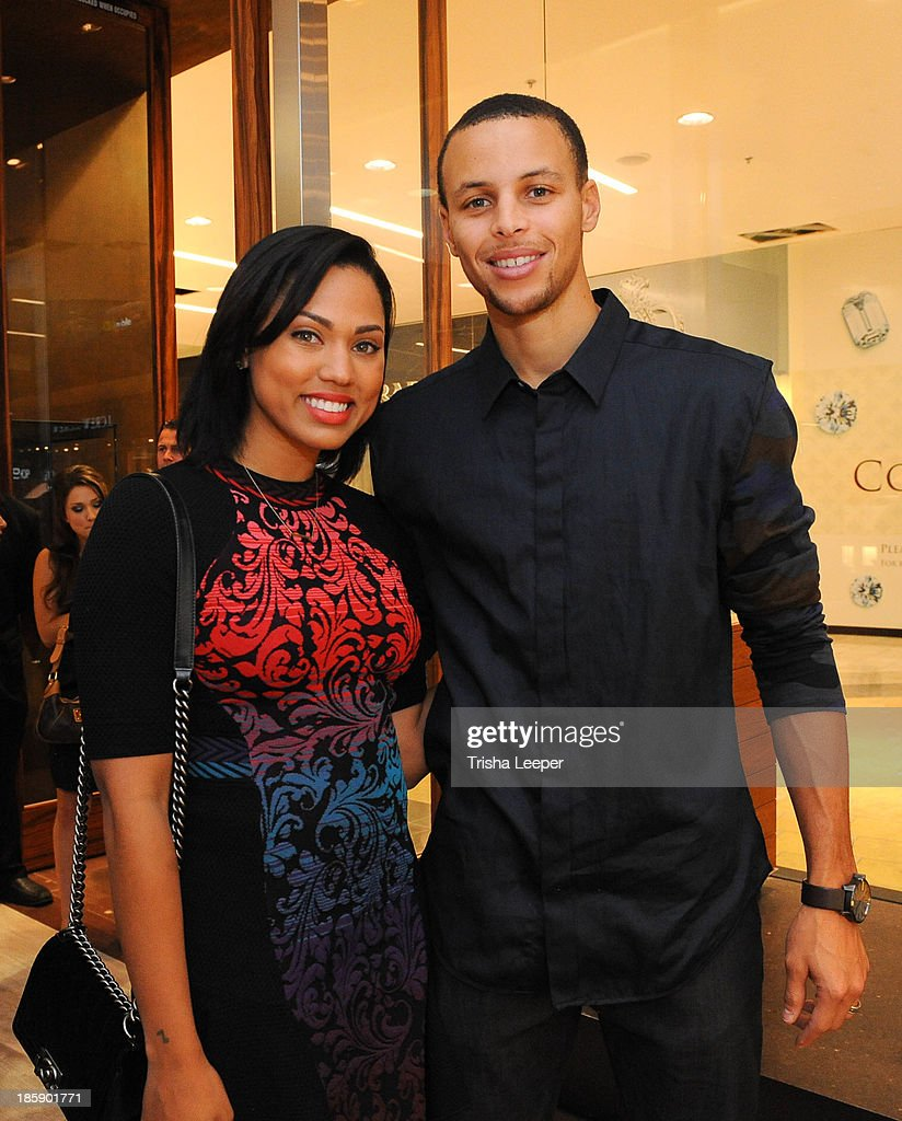 Ayesha Curry and <a gi-track='captionPersonalityLinkClicked' href=/galleries/search?phrase=Stephen+Curry+-+Basketball+Player&family=editorial&specificpeople=5040623 ng-click='$event.stopPropagation()'>Stephen Curry</a> attend the David Yurman Launch of The Meteorite Collection With Kent Bazemore at Westfield Valley Fair on October 25, 2013 in Santa Clara, California.