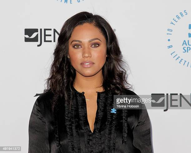 Ayesha Curry attends the Autism Speaks to Los Angeles Celebrity Chef Gala at Barker Hangar on October 8 2015 in Santa Monica California