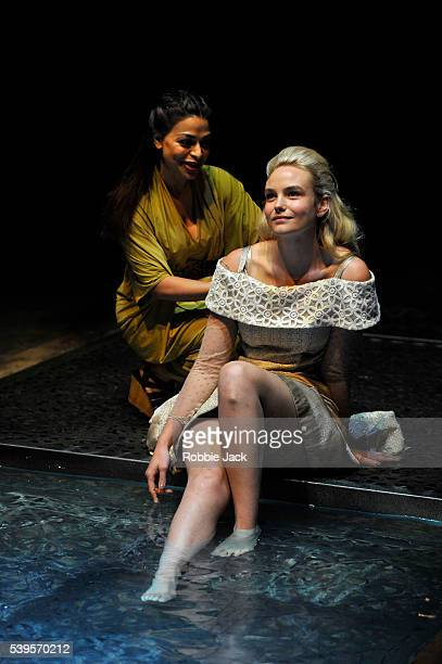 Ayesha Dharker as Emilia and Joanna Vanderham as Desdemona in the Royal Shakespeare Company's production of William Shakespeare's Othello directed by...