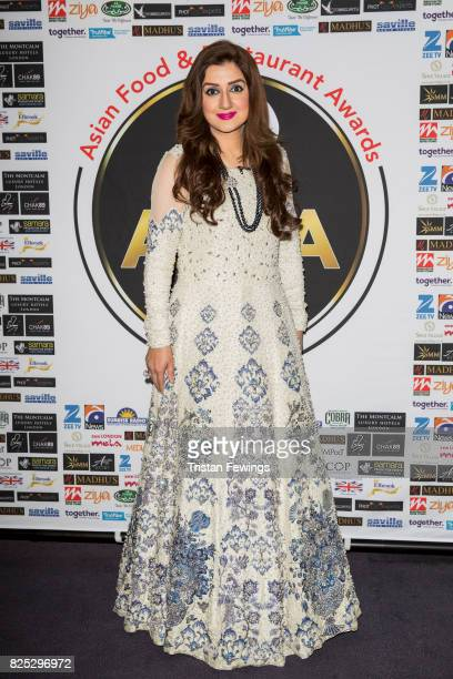 Ayesha Sana attends The Asian Food and Restaurant Awards 2017 at Montcalm Hotel on August 1 2017 in London England