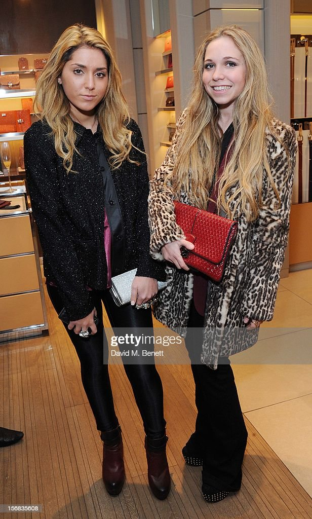 Ayesha Shand (R) attends 'Tod's Vendanges on Bond' at the Tod's Bond Street Boutique on November 22, 2012 in London, England.