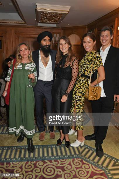 Ayesha Shand Waris Ahluwalia Caroline Lever Quentin Jones and George Northcott attend a private dinner following the Warrior Games Exhibition VIP...