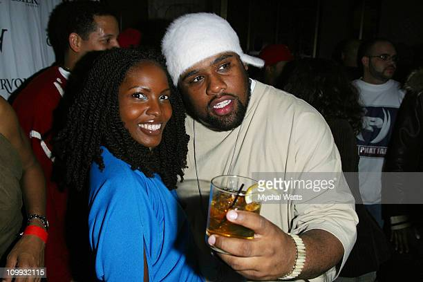 Ayinke and Big V from the Nappy Roots during AAries Courvoisier 7City Tour New York at Club Centro Fly in New York New York United States