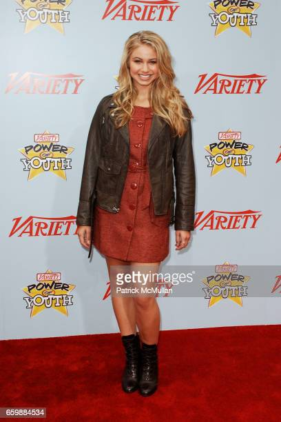 Ayla Kell attends Variety's 3rd Annual POWER OF YOUTH Event at Paramount Studios on December 5 2009 in Hollywood CA