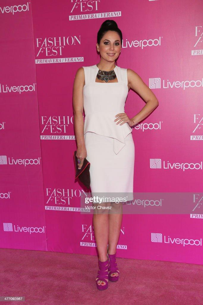 Aylen Del Toro attends the Liverpool Fashion Fest Spring/Summer 2014 at Hipodromo de las Americas on March 6, 2014 in Mexico City, Mexico.