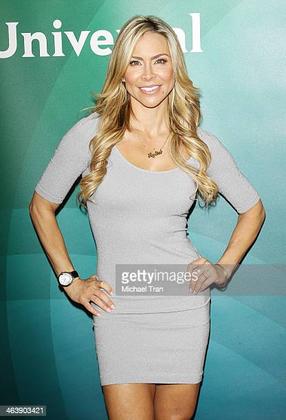 Aylin Mujica arrives at the NBC/Universal 2014 TCA Winter press tour held at The Langham Huntington Hotel and Spa on January 19 2014 in Pasadena...