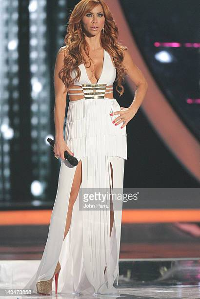 Aylin Mujica attends during Billboard Latin Music Awards 2012 at Bank United Center on April 26 2012 in Miami Florida