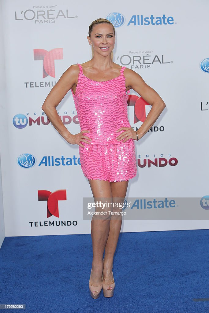 Aylin Mujica attends Telemundo's Premios Tu Mundo Awards at American Airlines Arena on August 15, 2013 in Miami, Florida.