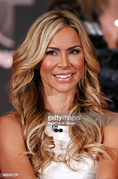 Aylin Mujica of the television show 'Top Chef Estrellas' speaks during the NBC Universal portion of the 2014 Winter Television Critics Association...