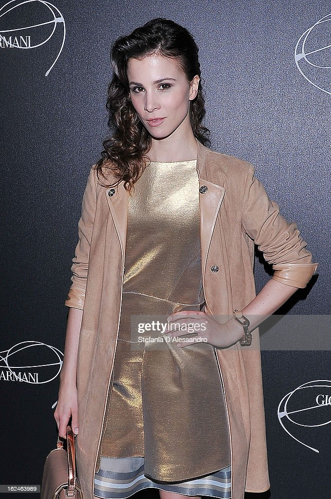 Aylin Tezel attends Giorgio Armani - Luxottica Event on February 23, 2013 in Milan, Italy.